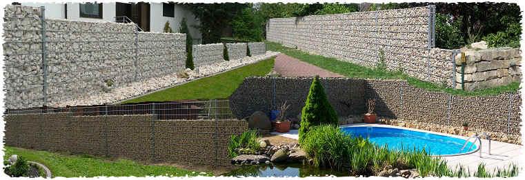 Steinmauer, Steinkörbe ab Werk, Gabionen, Drahtkörbe, Preise